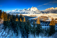 Grand Tetons Above the Snake River