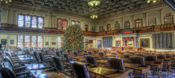 TX House of Reps Chamber at XMas