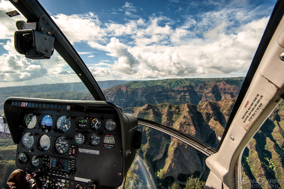 Helicopter view of Waimea Canyon